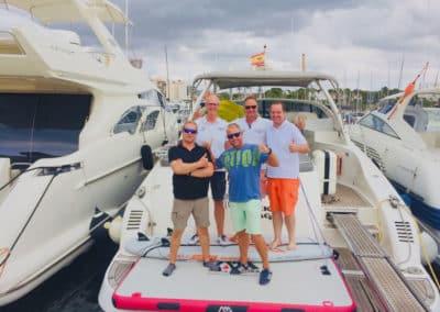 Deutsche Yacht Akademie Absolventen Prüflinge Bootsführerschein Mallorca Spanien