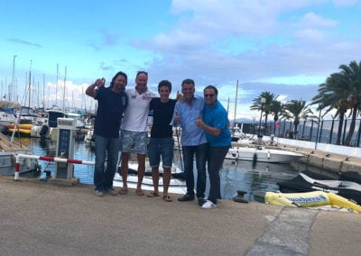 Absolventen Deutsche Yacht Akademie Bootsfahrschule Mallorca