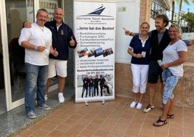 Bootsfahrschule Mallorca Absolventen Deutsche Yacht Akademie
